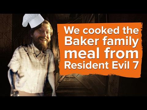 We cooked the Baker family dinner from Resident Evil 7
