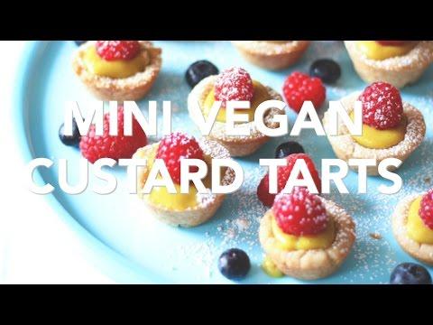 Mini Vegan Custard Tarts