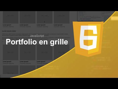 Tutoriel JavaScript : Portfolio en grille