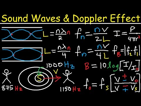 Sound Waves, Intensity level, Decibels, Beat Frequency, Doppler Effect, Open Organ Pipe - Physics