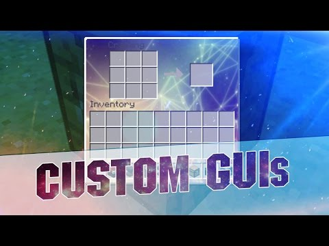 Minecraft Resource Pack - CUSTOM GUIs! Transparent and Abstract Inventory 1.8.3 / 1.8 / 1.7