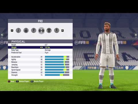 FIFA 18 PRO CLUBS BEST STRIKER BUILD + TRAITS TO USE