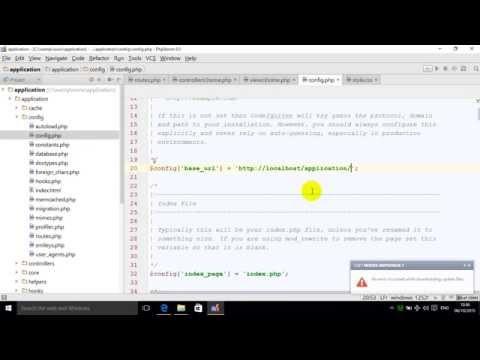 codeigniter 3 base URL lesson 6