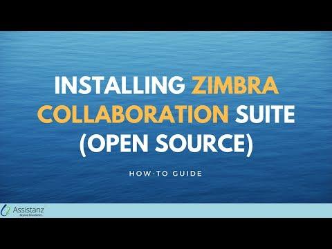 Installing Zimbra Collaboration Suite (Open Source)