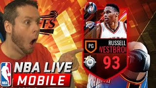 LOL WESTBROOK! NBA LIVE MOBILE PLAYOFF PACKS!