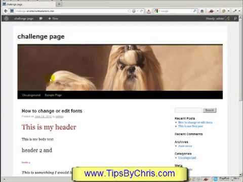 Wordpress Tutorial For Beginners - Changing Header Banner Picture