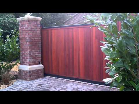 Electric Sliding Wooden Gate