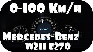 Mercedes W211 E270 CDI Acceleration 0-140kmh