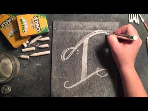 SheShe Design Chalk Script Lettering UPPERCASE I