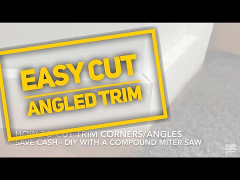 Easy Cut Trim for Angled Corners - DIY House Tip