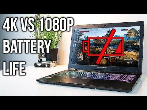 4K vs 1080P Laptop Battery Life