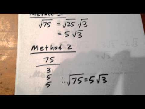 Simplify SQRT(75)