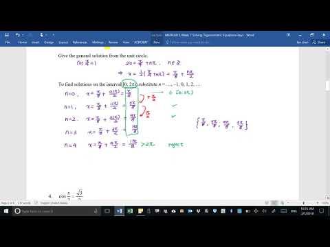 2412-Solving Trigonometric Equation part 1