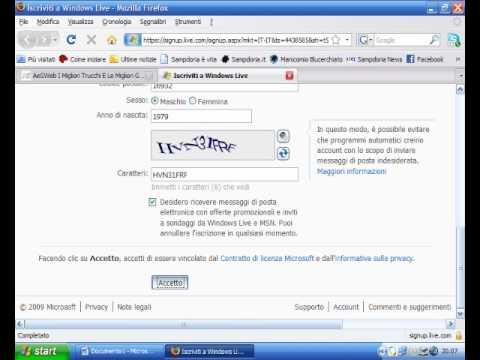 Come registrare un nuovo Windows Live ID