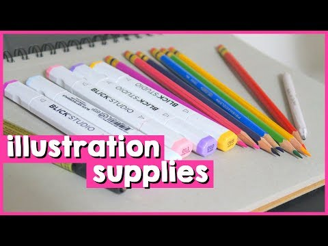 MY ESSENTIAL DRAWING/ILLUSTRATION SUPPLIES