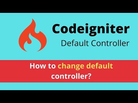 Change default controller in codeigniter