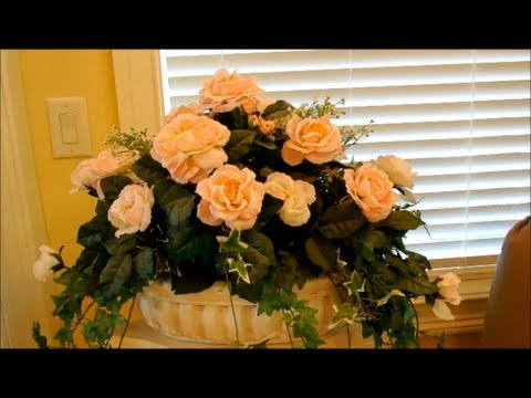 How to Make Silk Flower Arrangements - Part 1 - Flower Decoration, Interior Design. Home Improvement