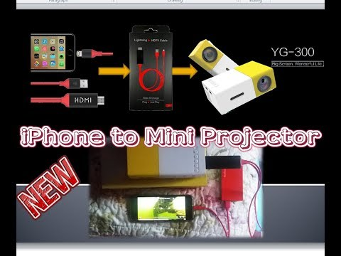 How to connect iPhone to mini projector - Part 2 || 2018