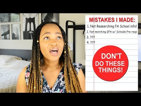 Xxx Mp4 You WILL NOT Get Into PA School If You Make These Mistakes MUST WATCH For All Pre PAs 3gp Sex