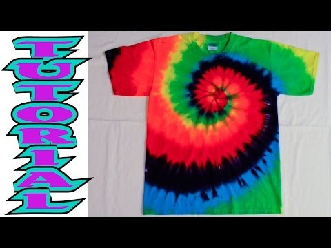 How to Tie Dye a Rainbow Spiral or swirl shirt [Full Tutorial] #9
