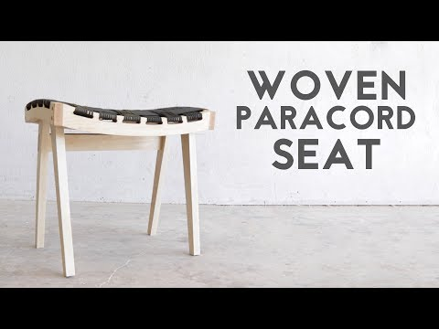 DIY Wooden Stool With Woven Paracord Seat | Modern Builds | EP. 68