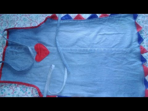 DIY Apron from old Jean in Hindi