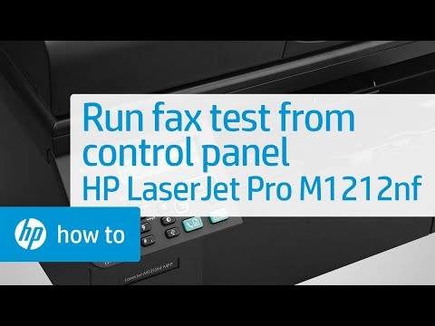 Running a Fax Test from Your Printer's Control Panel - HP LaserJet Pro M1212nf Multifunction Printer