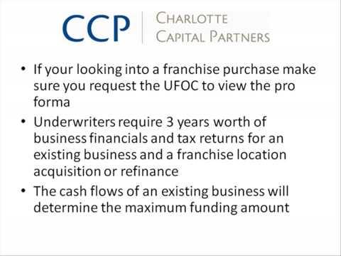 Franchise Loan or Business Loan? SBA Loan Part 2