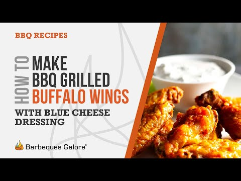 How to make bbq grilled buffalo wings with blue cheese dressing