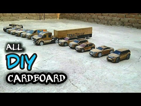 How to make car, truck, diy rc cardboard car, truck, easy to make rc toy car, cardboard craft