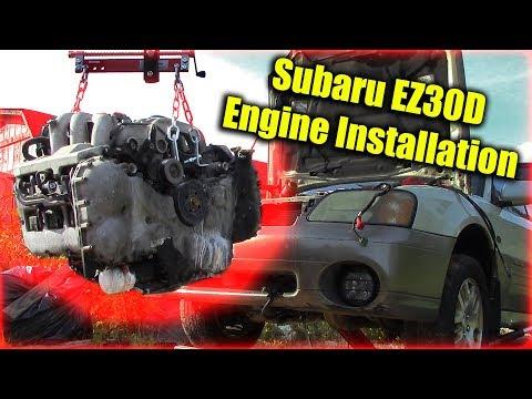 Subaru EZ30D H6 Engine Installation