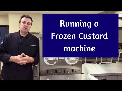 Running a Frozen Custard machine