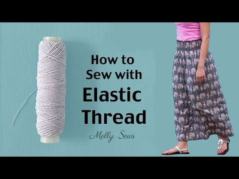 How to Shirr with Elastic Thread - Make a Shirred Skirt