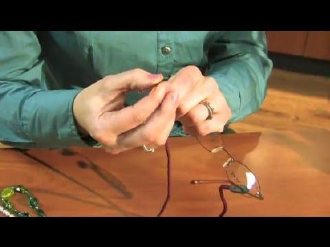 How to Use the Eyeglass Chain : Eyeglasses Basics