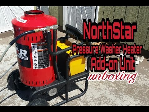 NorthStar Pressure Washer Heater/Steamer Add-on Unit - 4000 PSI, 4 GPM, 120 Volt Unboxing