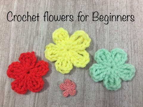 Easy crochet flowers tutorial for beginners # Flower No.1