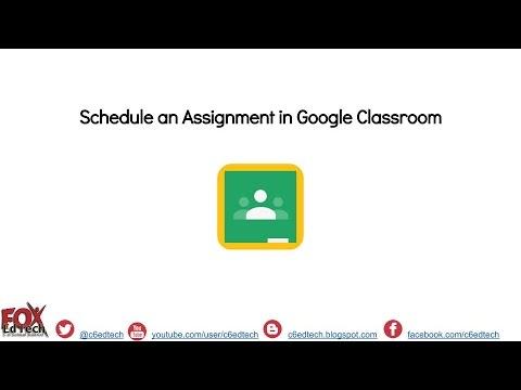 Schedule an Assignment in Google Classroom