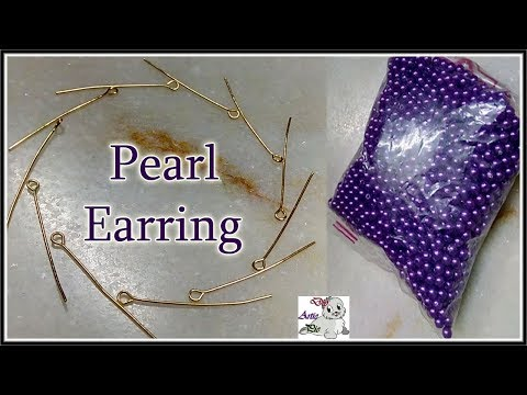 #193 How To Make Pearl Beaded Earrings || Diy || Jewellery Making || Jhumka Making || DiyArtiePie
