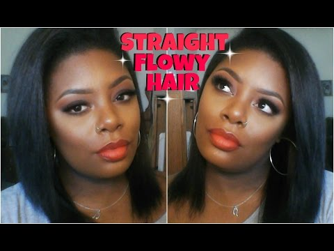 How To: Flat Iron & Get Straight Flowy Hair (Tutorial)