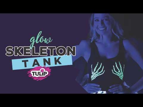 Glow Skeleton Hand Tank Top using Tulip ColorShot Glow