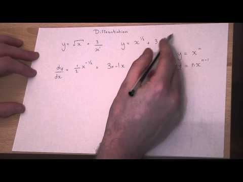 How to Differentiate : Square roots and one over x
