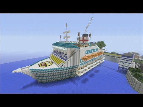 Minecraft xbox Epic Structures: xSLIMSHADY1230x's HMS Smiley Cruise Ship