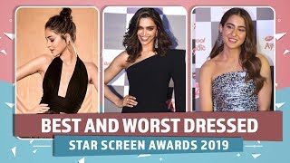 Deepika Padukone, Ananya Panday, Sara Ali Khan: Best and Worst Dressed at Star Screen Awards 2019