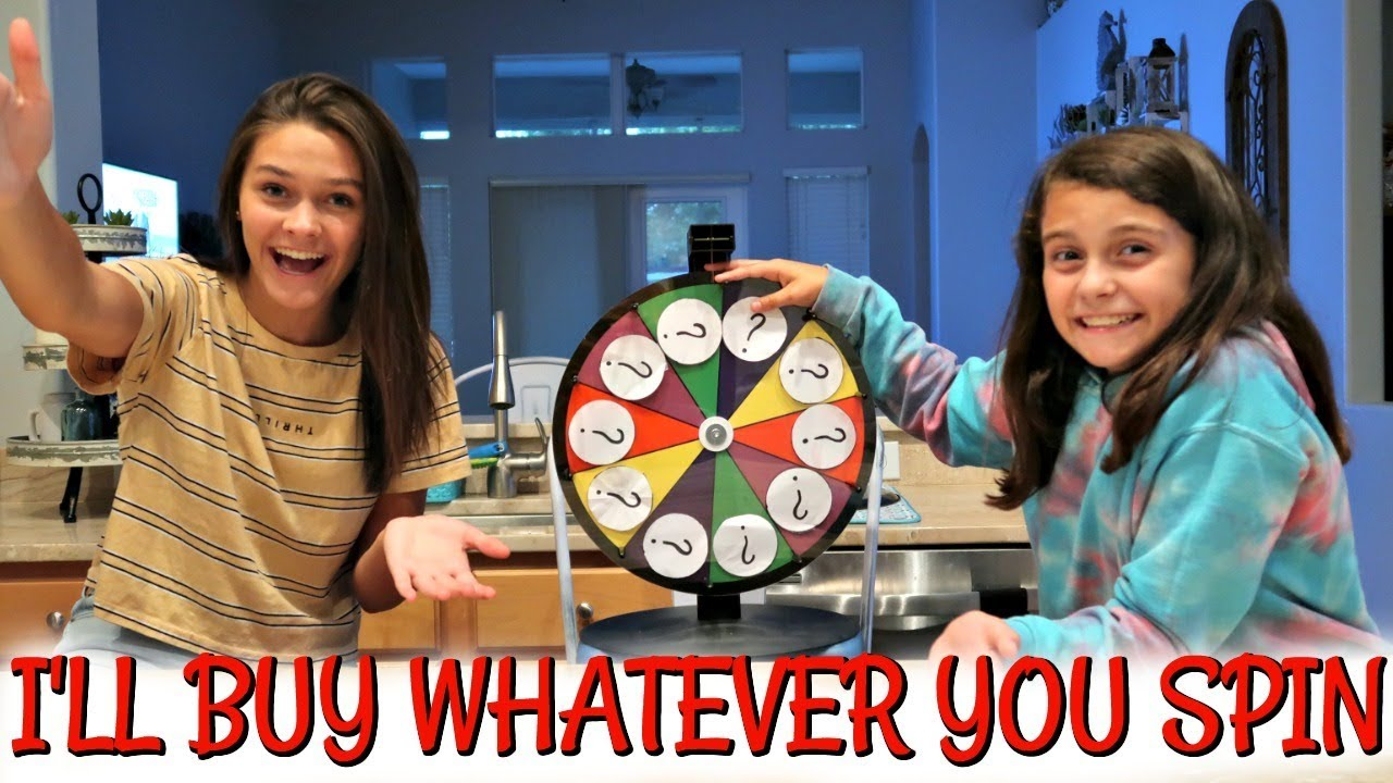 I'LL BUY WHATEVER YOU SPIN CHALLENGE! EMMA AND ELLIE