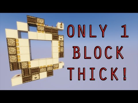 1.11 - 1.12+ Incredibly Compact 3X3 Piston door! Better than most other designs!