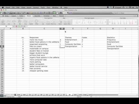 Part 1 - Using Excel for Open-ended Question Data Analysis