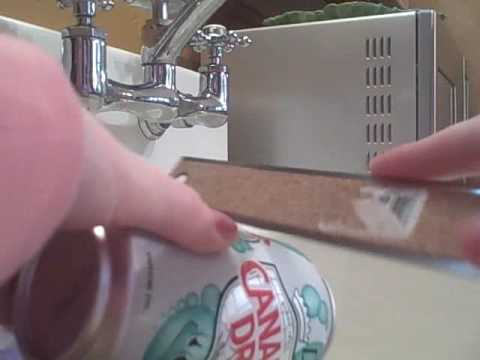 Cutting A Soda Can With A Metal Ruler