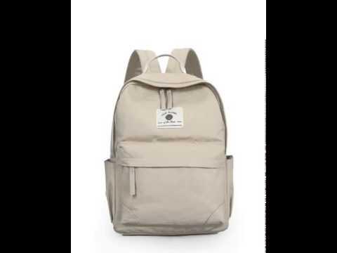 Simple clean canvas backpack.avi
