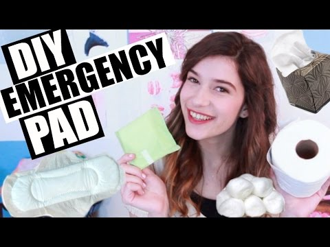 HOW TO MAKE A DIY EMERGENCY PAD!