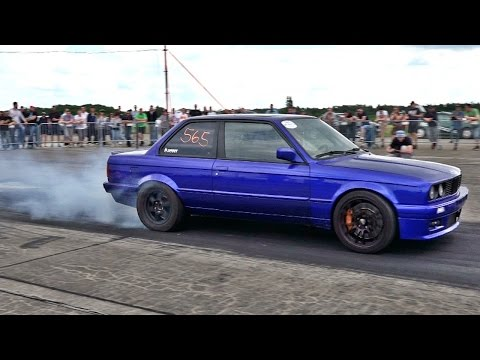 BMW E30 M5 Turbo engine swap - Extreme fast Acceleration & Sound